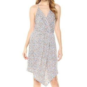 BCBGeneration Asymmetrical Hem Surplice Dress